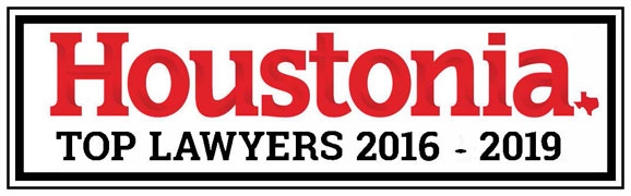 Voted One of Houstonia Magazine's Top Lawyers